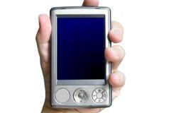 Geïsoleerdel pda met het blauwe scherm royalty-vrije stock afbeeldingen