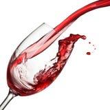 Geïsoleerdel plons van wijn royalty-vrije stock foto's