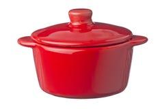 Geïsoleerdel rode pot Stock Afbeelding