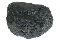 Geïsoleerdel steenkool Stock Afbeeldingen