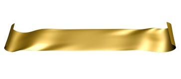 Geïsoleerdel zijdeachtige gouden banner
