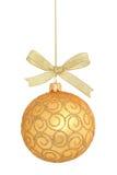 Geïsoleerdem de bal van Kerstmis Stock Foto's