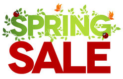 Geïsoleerdem de verkoop van de lente Royalty-vrije Stock Afbeeldingen