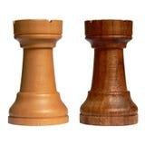 Geïsoleerdem schaakroek Stock Foto
