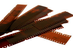 Geïsoleerden 35mm negatieven Stock Afbeelding