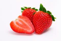 Geïsoleerden aardbeien Stock Fotografie