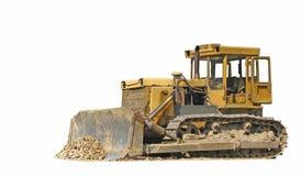 Geïsoleerden bulldozer royalty-vrije stock afbeeldingen