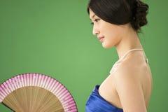 Geïsoleerden Chinese vrouw Stock Foto's