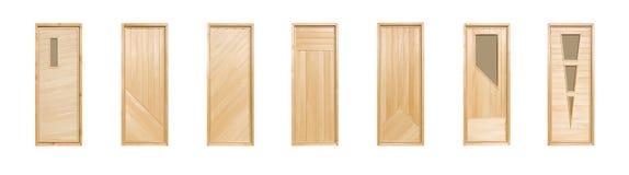 Geïsoleerden de deuren van de linde stock afbeeldingen