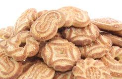 Geïsoleerden de koekjes van de suiker Royalty-vrije Stock Foto