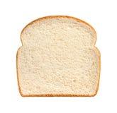 Geïsoleerden de plak van het brood stock afbeeldingen