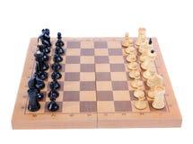 Geïsoleerden de raad van het schaak Stock Afbeeldingen