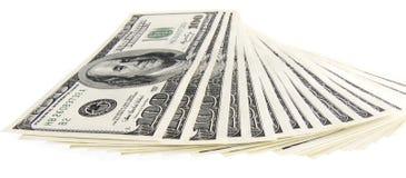 Geïsoleerden dollars Royalty-vrije Stock Foto's
