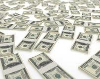 Geïsoleerden dollars Royalty-vrije Stock Afbeelding