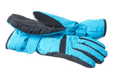 Geïsoleerden handschoenen Stock Foto