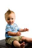 Geïsoleerden het Portret van de Jongen van de baby Royalty-vrije Stock Fotografie