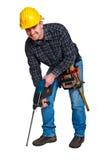 Geïsoleerden jonge arbeider met hulpmiddelen 04 Royalty-vrije Stock Fotografie