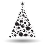Geïsoleerden kerstboom Abstract ontwerpembleem Royalty-vrije Stock Afbeeldingen
