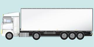 Geïsoleerden moderne vrachtwagen Stock Foto's