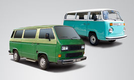De bestelwagens van de bus stock foto's
