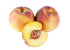 Geïsoleerden perziken stock foto
