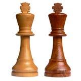 Geïsoleerden schaakkoning stock foto's