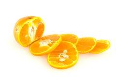 Geïsoleerden sinaasappelen Royalty-vrije Stock Foto's