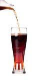 Geïsoleerden Verse cokes met plons Royalty-vrije Stock Fotografie