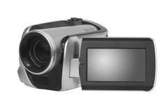 Geïsoleerden videocamera   stock afbeelding