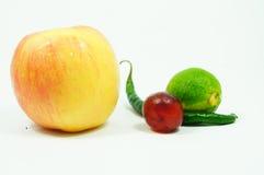 Geïsoleerden vruchten en groente Royalty-vrije Stock Afbeeldingen