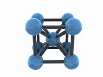 Geïsoleerdeo 3d molecule - geef terug Stock Illustratie
