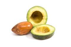Geïsoleerdeo avocado Royalty-vrije Stock Afbeelding
