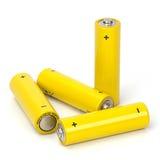 Geïsoleerdeo batterijen Royalty-vrije Stock Foto's
