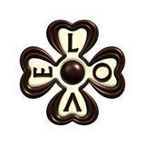 Geïsoleerdeo de liefdeklaver van de chocolade Royalty-vrije Stock Fotografie
