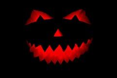 Geïsoleerdeo de pompoen van Halloween Stock Afbeeldingen
