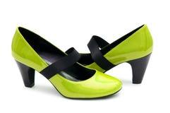 Geïsoleerdeo de schoenen van de vrouw Royalty-vrije Stock Foto's