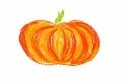 Geïsoleerdeo de tekening van de pompoen Vector Illustratie