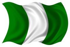 Geïsoleerdeo de vlag van Nigeria Stock Foto's