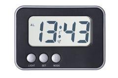 Geïsoleerdeo elektronische klok Royalty-vrije Stock Afbeelding