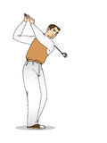 Geïsoleerdeo golfspeler vector illustratie