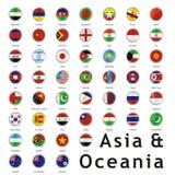 Geïsoleerdeo internationale vlaggen Stock Afbeelding