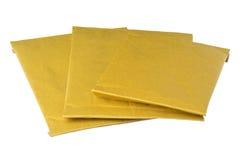 Geïsoleerdeo opgevulde enveloppen Royalty-vrije Stock Foto