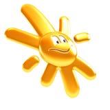 Geïsoleerdeo symbolische zonglimlach Stock Afbeeldingen