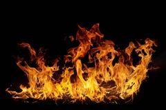 Geïsoleerdeo vlammen royalty-vrije stock afbeelding