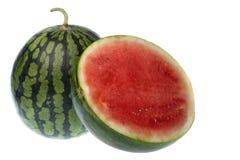 Geïsoleerdeo watermeloenen Royalty-vrije Stock Afbeeldingen