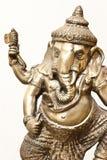 Geïsoleerdeo Zilveren Ganesha Royalty-vrije Stock Afbeeldingen