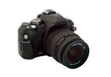 Geïsoleerdeo zwarte camera Stock Afbeeldingen