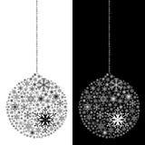 Geïsoleerdep de bal van Kerstmis Royalty-vrije Stock Afbeeldingen