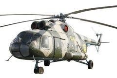 Geïsoleerdep helikopter mi-8 Stock Foto's