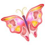 Geïsoleerdep Kunst 4 van de Klem van de Vlinder Royalty-vrije Stock Foto's